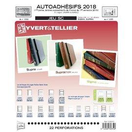 Yvert & Tellier Jeu SC France Autoadhesifs 2018 1er semestre