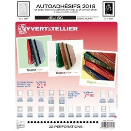 Yvert & Tellier Jeu SC France Autoadhesifs 2018 2eme semestre