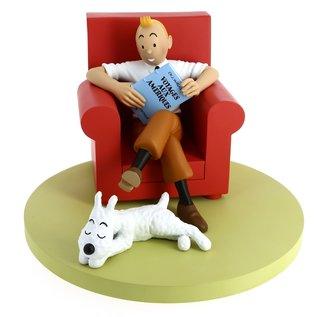 moulinsart Tintin Ikonen -  Tim in Sessel