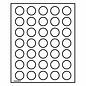 Leuchtturm Münzbox Lignum 35 runde Fächer