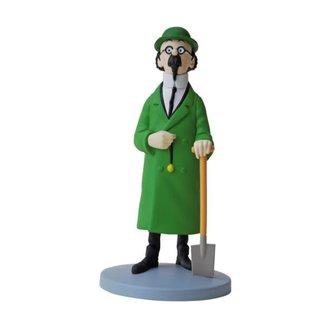moulinsart Kuifje beeldje - Professor Zonnebloem met een schop