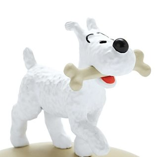moulinsart Tintin statue - Snowy with a bone