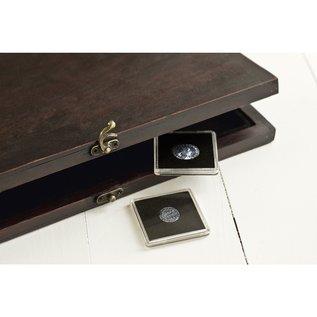 Leuchtturm Genuine Wood Coin Case RUSTIKA