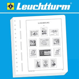 Leuchtturm album pages SF Luxembourg 1945-1969