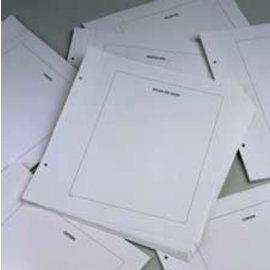Davo LX blanco bladen kader Belgie - 20 stuks