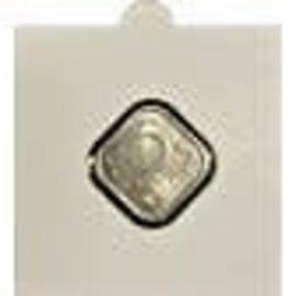 Hartberger munthouders zelfklevend vierkant 24 mm - 25 stuks