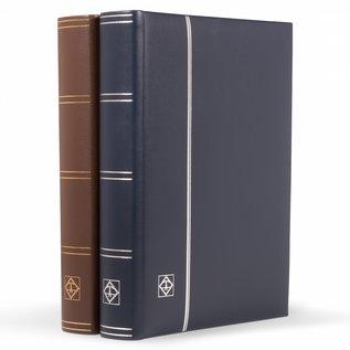 Leuchtturm Einsteckbuch LEDER blau