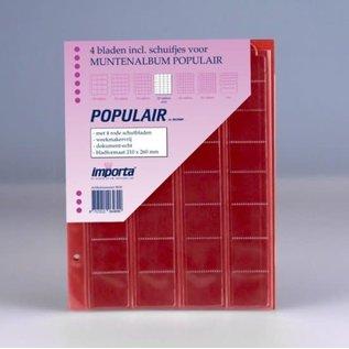 Importa muntenbladen Populair 32-vaks rode schutbladen - 4 stuks