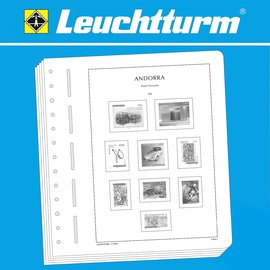 Leuchtturm album pages SF Andorre French Post 2010-2017