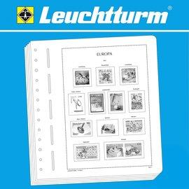 Leuchtturm Text SF Europa CEPT 1990-1992