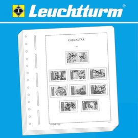 Leuchtturm album pages SF Gibraltar 1953-1970