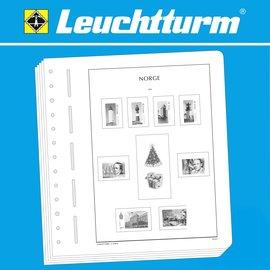 Leuchtturm album pages SF Norway plate varieties 1863-1893