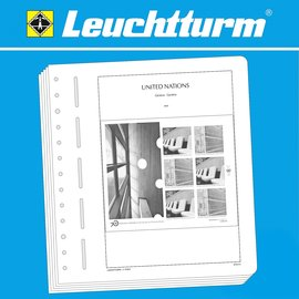 Leuchtturm album pages SF UN Geneva sheetlets 1976-1999