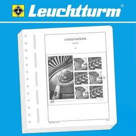 Leuchtturm album pages SF UN New York sheetlets 1976-1999