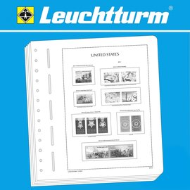 Leuchtturm album pages SF USA 1935 Farley