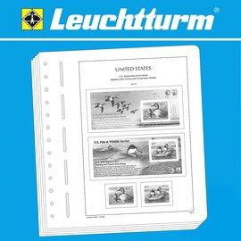 Leuchtturm album pages SF USA Duck Stamps 1934-2017