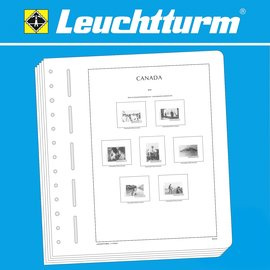 Leuchtturm album pages SF Canada 1851-1951