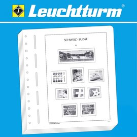 Leuchtturm album pages SF Switzerland service stamps 1945-2012