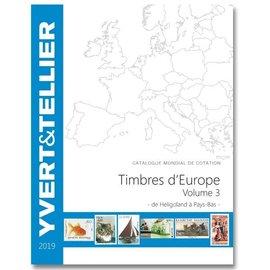 Yvert & Tellier Timbres d'Europe Volume 3 de Heligoland à Pays Bas