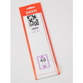 Davo stamp mounts Nero 215 x 52 mm - set of 8