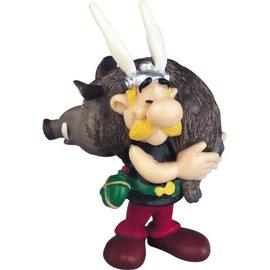 Plastoy Asterix figuur Asterix met everzwijn