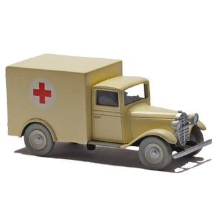 moulinsart Tintin car - The ambulance from The Cigars of the Pharaoh