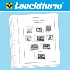 Leuchtturm album pages N German Reich Memel 1920-1923, 1939
