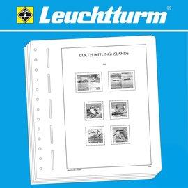 Leuchtturm album pages SF Cocos (Keeling)-Islands 1963-2017