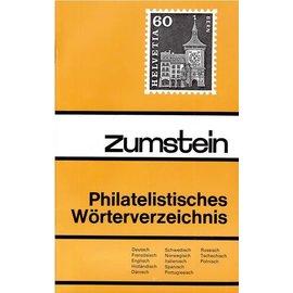 Zumstein Philatelistisches Wörterverzeichnis