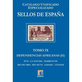 Edifil Catálogo Unificado Especializado de Sellos de España Tomo IX