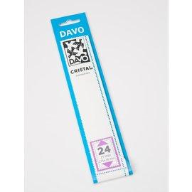 Davo Klemmstreifen Cristal 215 x 28 mm - 25 Stück