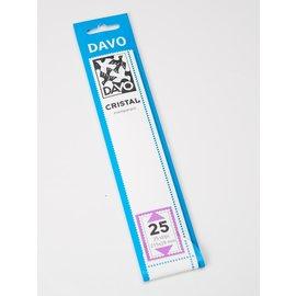 Davo Klemmstreifen Cristal 215 x 29 mm - 25 Stück