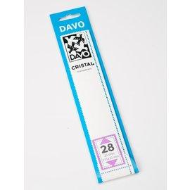 Davo klemstroken C28 Cristal 215 x 32 mm - 25 stuks