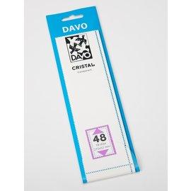 Davo stamp mounts Cristal 215 x 52 mm - set of 8