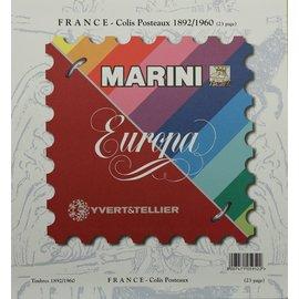 Marini inhoud Frankrijk Colis Postaux 1892-1960