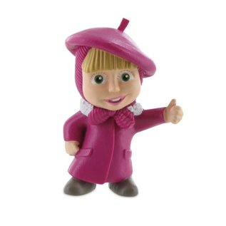 Comansi Masha and the Bear - figurine Masha as painter