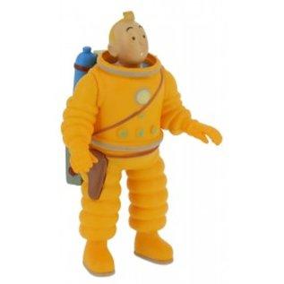 moulinsart Tintin figure - Tintin in moon suit as an astronaut