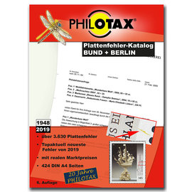 Philotax Plattenfehler Bund + Berlin 1948-2019