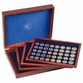 Leuchtturm Volterra Quattro Münzkassette für 24 Eurokursmünzensätze in Münzkapseln