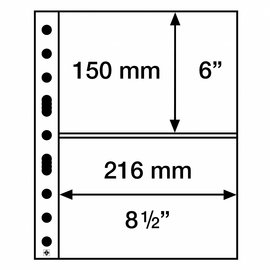 Leuchtturm Glasklare Hüllen Grande Easy 2C - 50 Stück