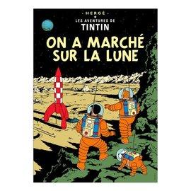 moulinsart Tintin poster - On a marché sur la lune - 50 x 70 cm