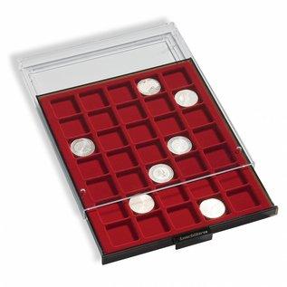 Leuchtturm muntenbox MB 48 vierkante vakken 28x28 mm voor 2-Euro