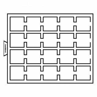 Leuchtturm muntenbox MB G S 20 vierkante vakken 50x50 mm voor Quadrum & munthouders