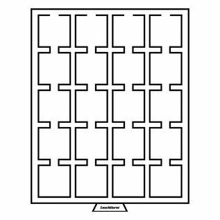 Leuchtturm muntenbox MB S 20 vierkante vakken 50x50 mm voor Quadrum muntcapsules