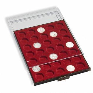 Leuchtturm muntenbox MB 48 ronde vakken voor 6 complete sets euromunten