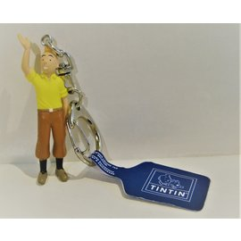 moulinsart Kuifje figuurtje - Kuifje zwaaiend sleutelhanger