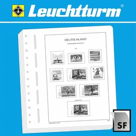 Leuchtturm album pages SF Germany stamp booklets 2000-2009