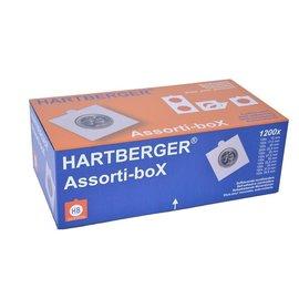 Hartberger assorti-box munthouders zelfklevend  - 1200 stuks