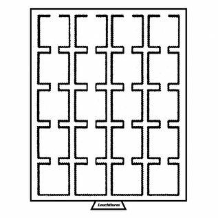 Leuchtturm muntenbox MB CAPS 50x50 mm - 20 vakken - voor Quadrum muntcapsules