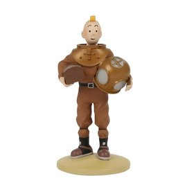 moulinsart Tintin statue - Tintin in diver's suit